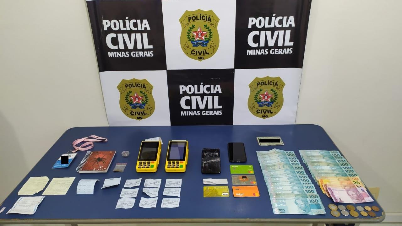 Suspeitos de aplicarem golpes são presos pela polícia em Campo Belo - Foto: Divulgação/PCMG
