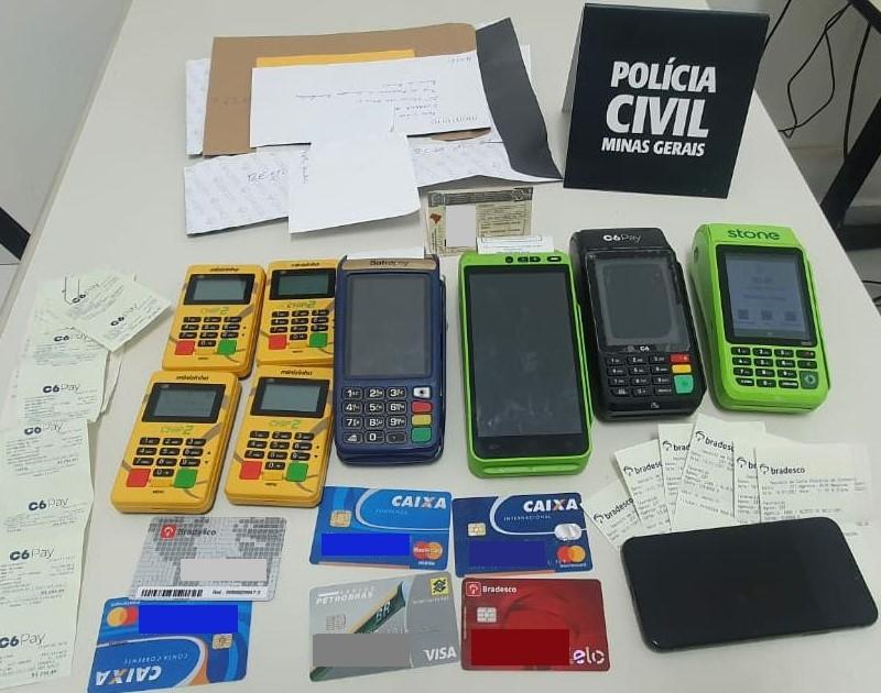 Suspeito de aplicar golpe do cartão clonado é preso em Nova Lima - Foto: Divulgação/PCMG