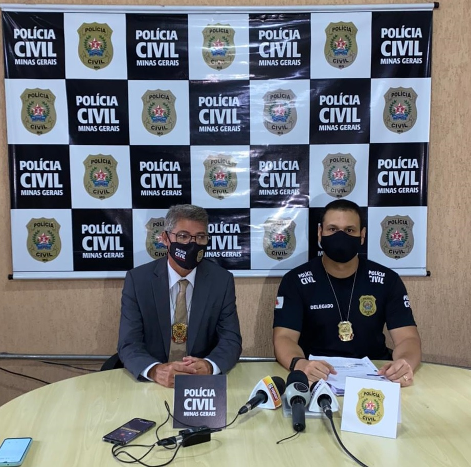 Delegado Pedro Henrique Batista Vieira explica que as investigações - Foto: Divulgação/PCMG