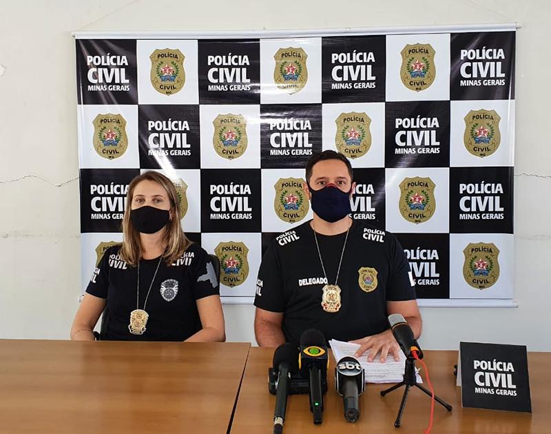 Delegado Thiago Araújo explica que as investigações - Foto: Divulgação/PCMG