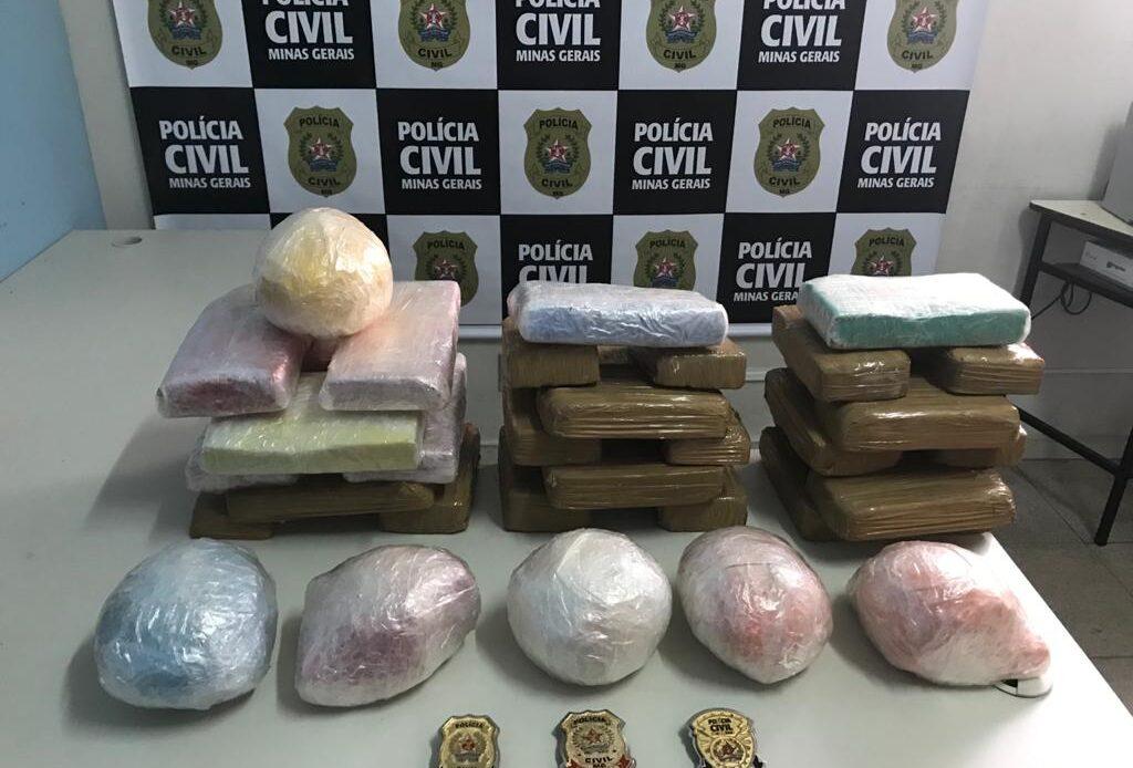 Ação policial resulta na apreensão de pasta-base de cocaína e crack em São Gonçalo do Pará - Foto: Divulgação/PCMG