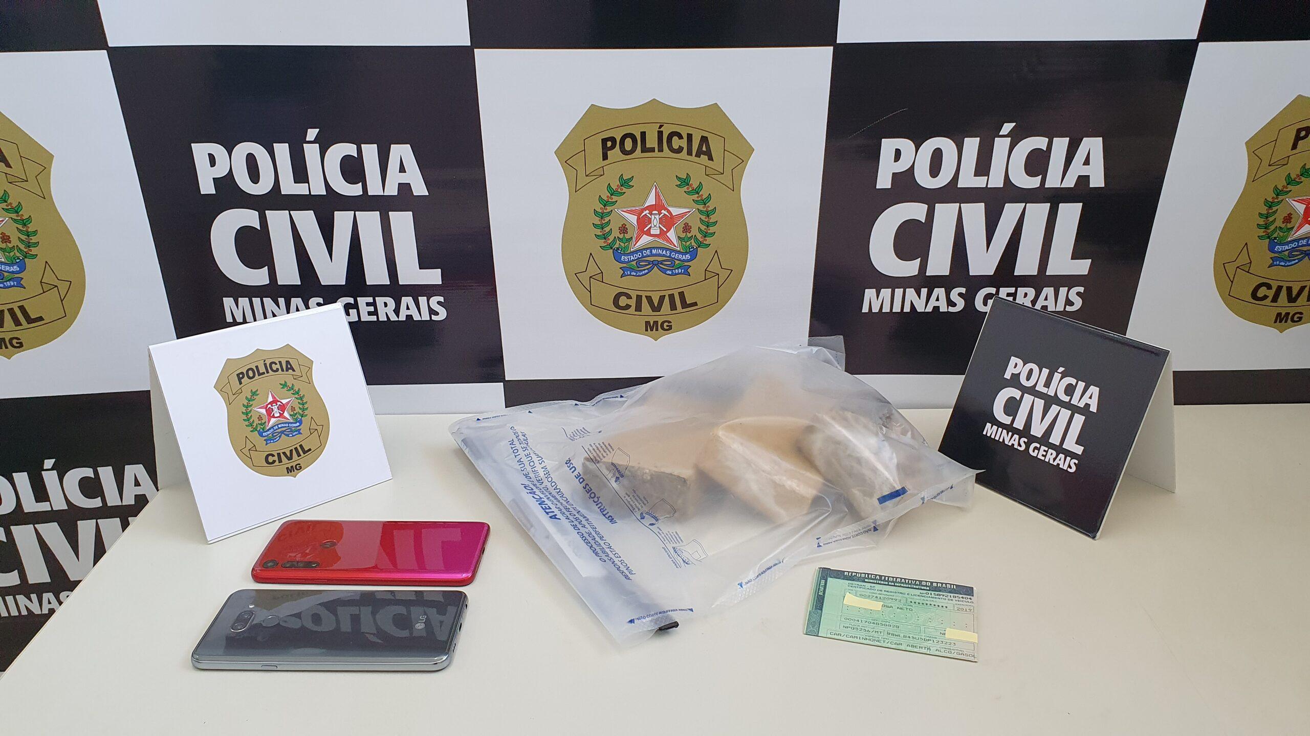 Suspeito é preso transportando drogas em Guaxupé - Foto: Divulgação/PCMG