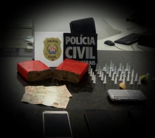 Polícia prende suspeitos de tráfico de drogas em Diamantina - Foto: Divulgação/PCMG