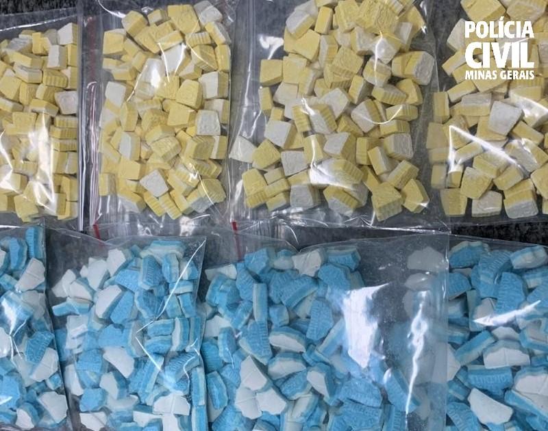 Polícia prende homem ao receber cerca de meio quilo de ecstasy em BH - Foto: Divulgação/PCMG