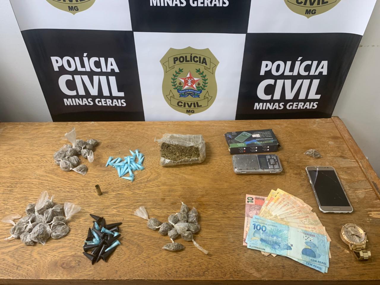 Polícia surpreende trio suspeito de tráfico de drogas em Nova Lima - Foto: Divulgação/PCMG