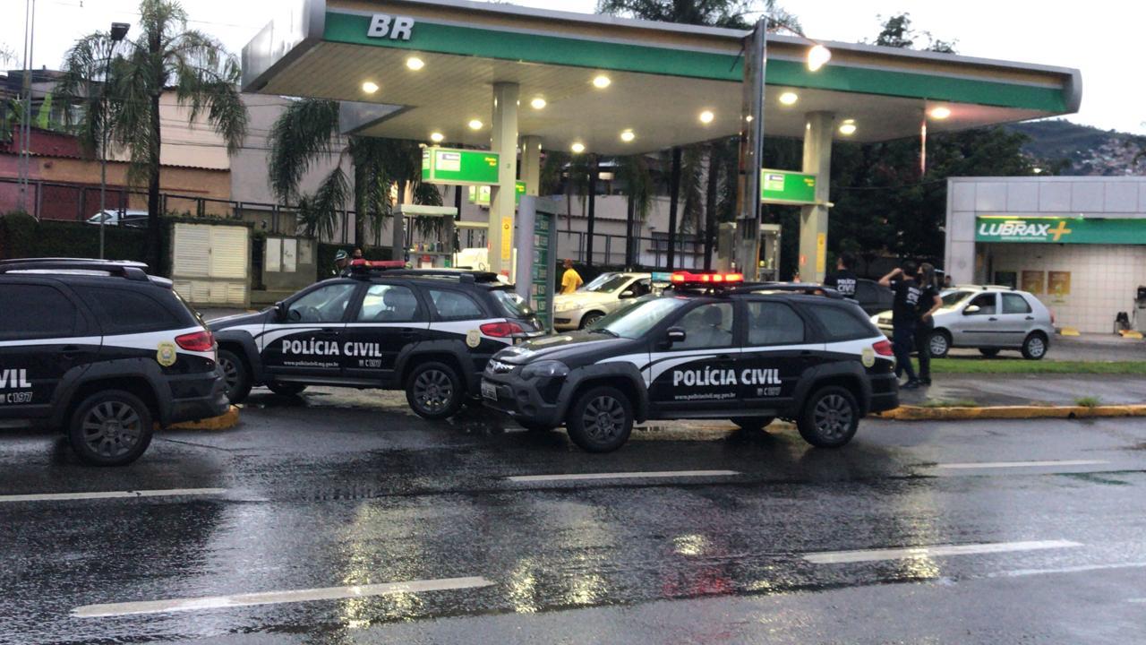Polícia realiza ações de fiscalização contra preços abusivos em postos de combustíveis em BH - Foto: Divulgação/PCMG