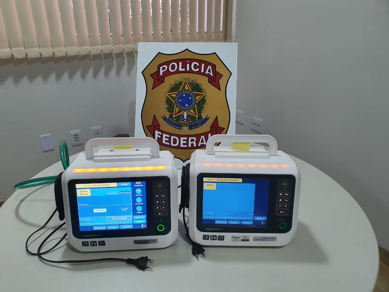 Respiradores recuperados pela polícia - Foto: Divulgação/PF