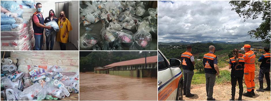Com atuação em diversas frentes, equipes do Estado foram deslocadas para reforçar o atendimento e socorro - Foto: Defesa Civil / Divulgação