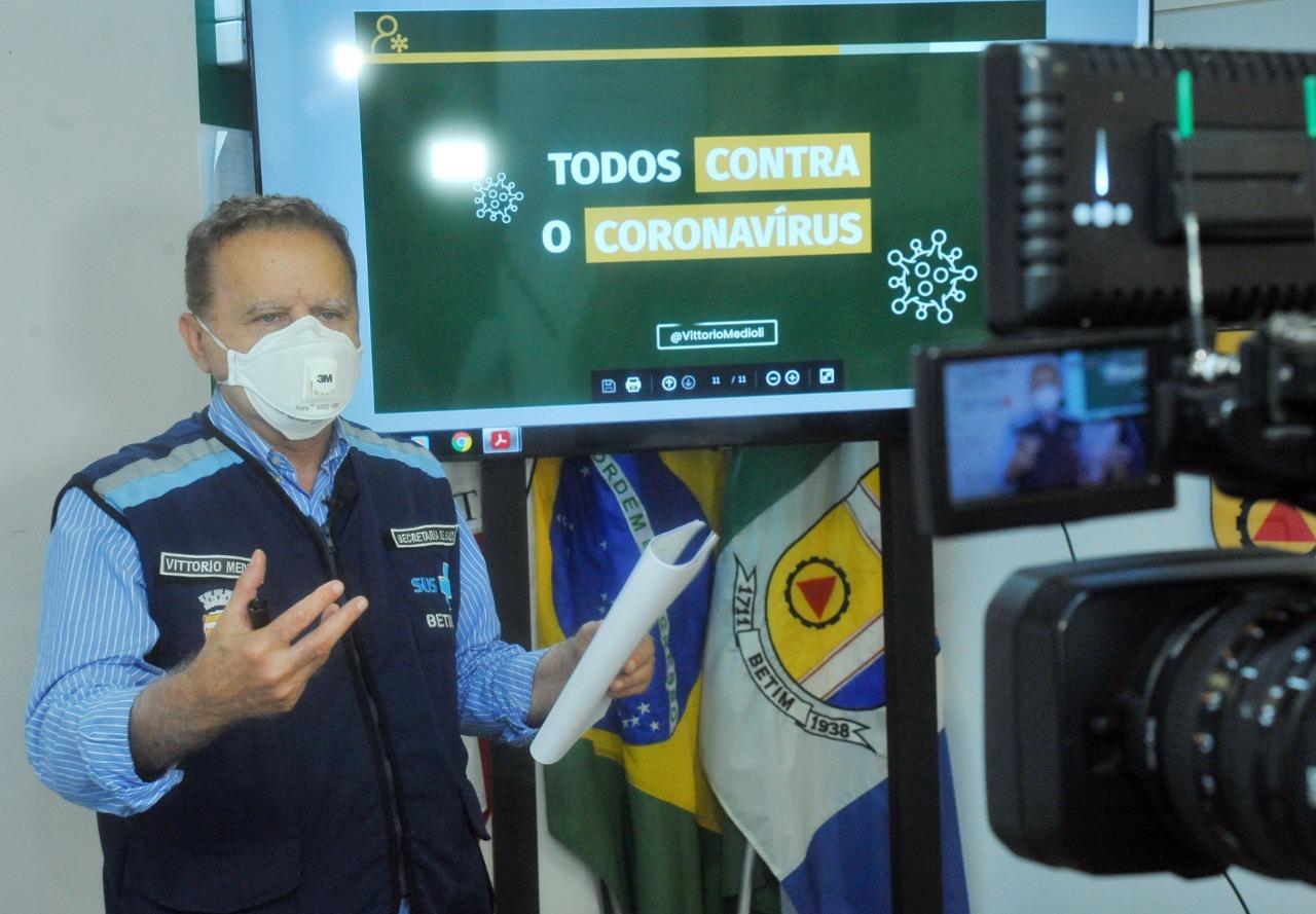Vittorio Medioli em entrevista - Foto: Divulgação/Prefeitura de Betim