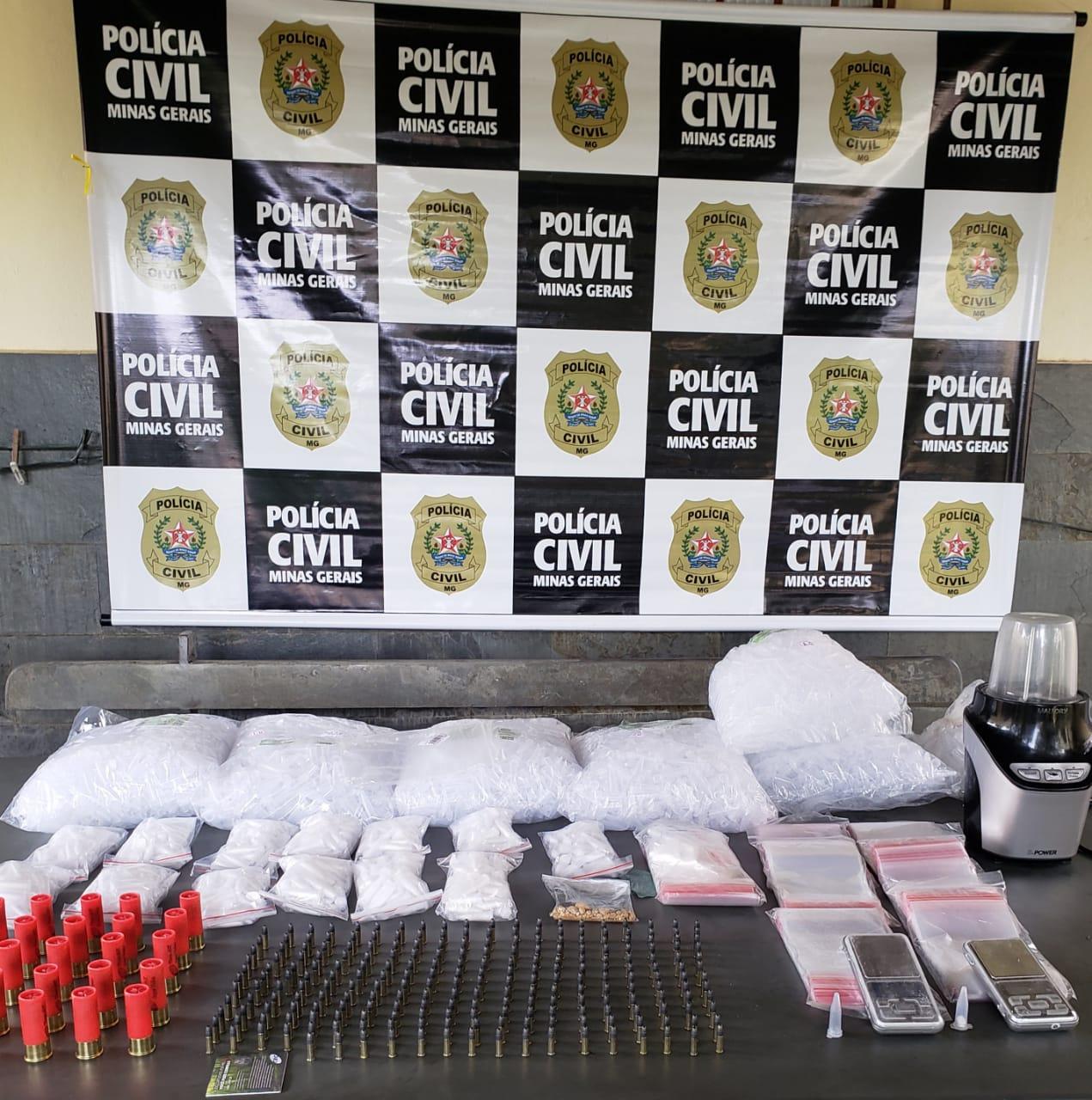 Polícia Civil localiza imóvel usado para refino de cocaína em BH - Foto: Divulgação/PCMG