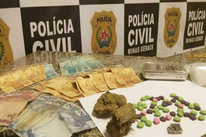 Dois homens são presos por tráfico de drogas em Juiz de Fora - Foto: Divulgação/PCMG
