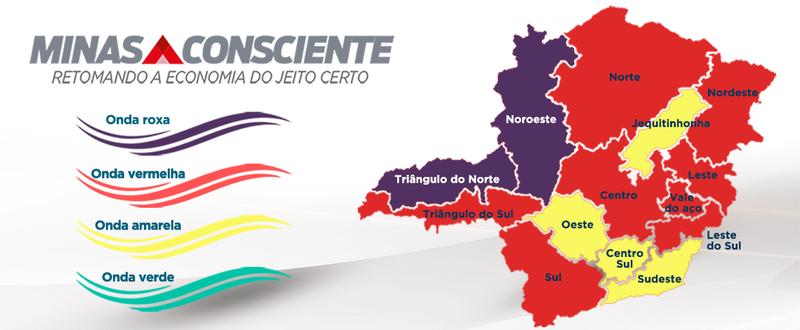 Governo cria onda roxa no Minas Consciente e decreta fechamento em duas regiões do estado - Foto: Divulgação