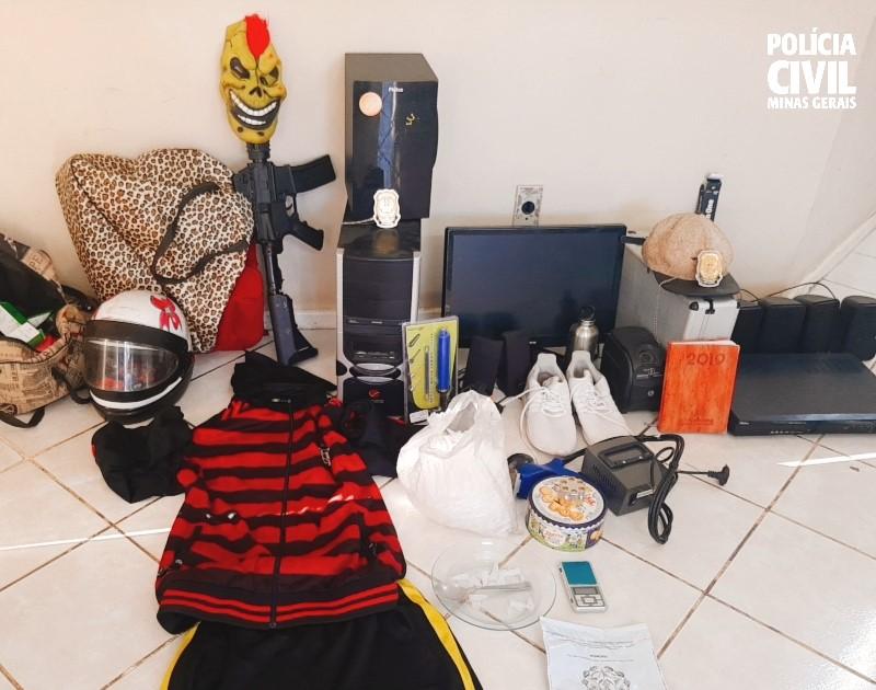 Polícia Civil prende suspeito de tráfico e roubo em Betim - Foto: Divulgação/PCMG