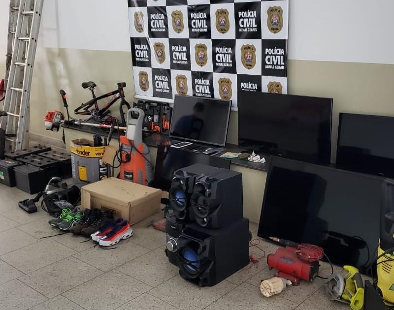 Três pessoas em operação que apurar crimes contra o patrimônio em Poços de Caldas - Foto: Divulgação/PCMG