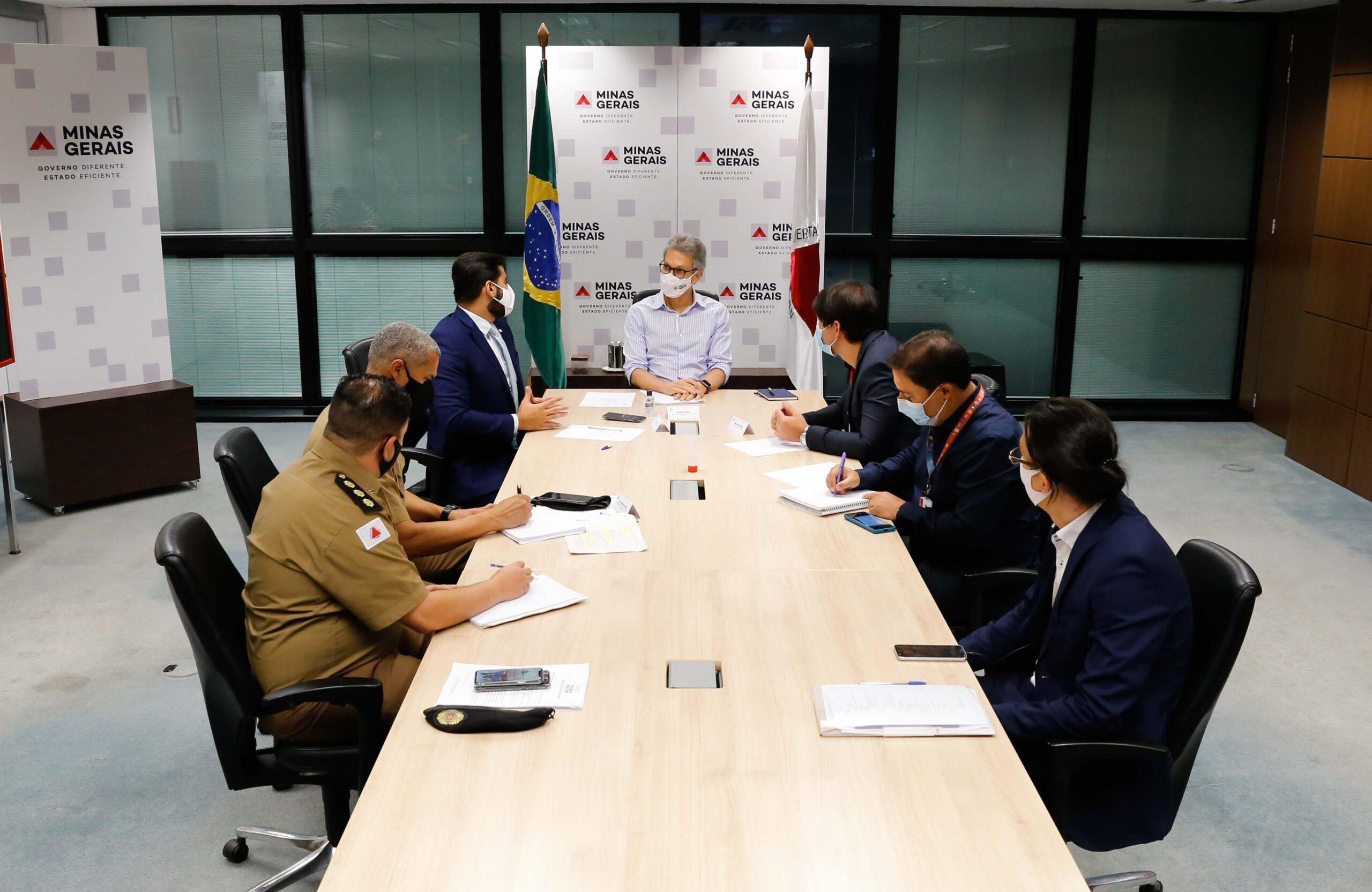 Governador Romeu Zema anuncia onda roxa em todo o estado a partir desta quarta-feira - Foto: Gil Leonardi/Imprensa MG