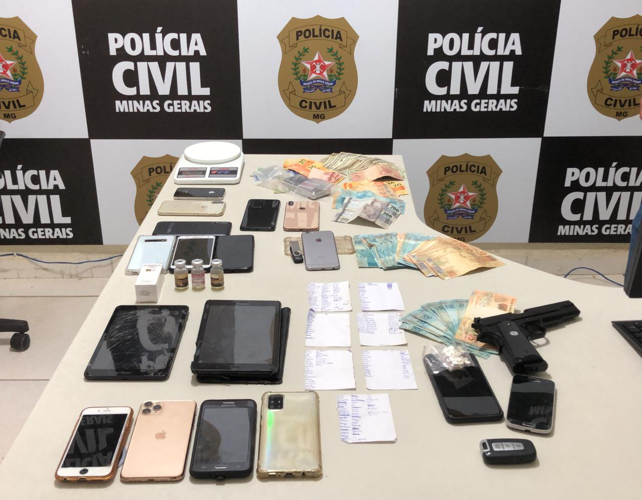 Polícia prende dois homens por tráfico em Governador Valadares - Foto: Divulgação/PCMG