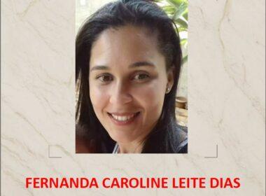 Fernanda Caroline Leite Dias, mãe da menina, está desaparecida e pode ter sido morta pelo casal - Foto: Divulgação/PCMG