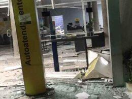 Quadrilha explode agência bancária em Jacuí, no Sul de Minas - Foto: Reprodução/Redes Sociais
