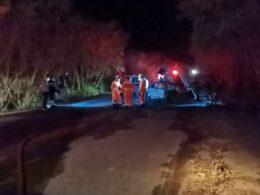 Cinco pessoas morrem carbonizadas em acidente na MG-060, em Maravilhas - Foto: Divulgação/Corpo de Bombeiros