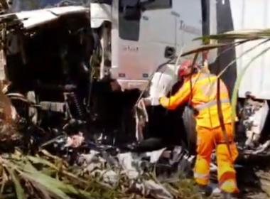 Homem morre em acidente entre carro e carreta na BR-262, em Nova Serrana - Foto: Divulgação/Redes Sociais