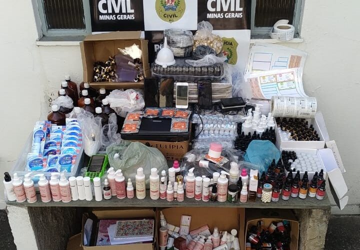 Família é presa por suspeita de adulteração e comercialização de cosméticos em Contagem - Foto: Divulgação/PCMG