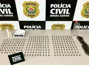 Operação prende dois suspeitos e apreende mais de 260 pinos de cocaína em Divinésia - Foto: Divulgação/PCMG