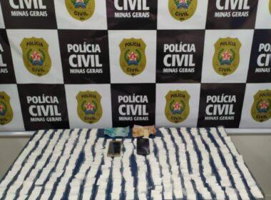 Polícia prende suspeito por tráfico de drogas em Campo Belo - Foto: Divulgação/PCMG
