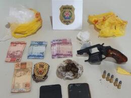 Homem é preso suspeito por tráfico de drogas em Januária - Foto: Divulgação/PCMG