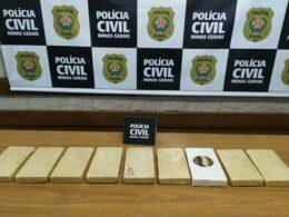 Polícia prende suspeito e apreende cocaína durante operação em Muriaé - Foto: Divulgação/PCMG