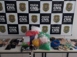 Quatro pessoas é presas em flagrante por tráfico de drogas em Coronel Fabriciano - Foto: Divulgação/PCMG
