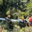 Helicóptero com 4 tripulantes cai no bairro Olhos D'água, em Belo Horizonte - Foto: Divulgação/Corpo de Bombeiros
