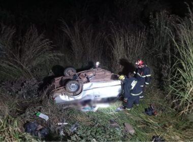 Três pessoas morrem em colisão na MG-190 entre Abadia dos Dourados e Monte Carmelo - Foto: Divulgação/Corpo de Bombeiros