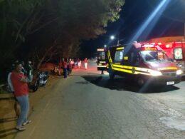 Três pessoas ficam feridas em atropelamento, em Guaxupé - Foto: Divulgação/Corpo de Bombeiros