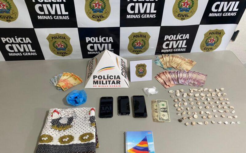 Três suspeitos por tráfico de drogas são presos em Andradas - Foto: Divulgação/PCMG
