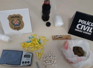 Dupla é presa pela polícia por tráfico de drogas em Itabira - Foto: Divulgação/PCMG