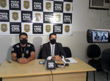 Coletiva de imprensa passou informações sobre a prisão da ex-prefeita de Morro do Pilar - Foto: Divulgação/ Polícia Civil de Minas Gerais