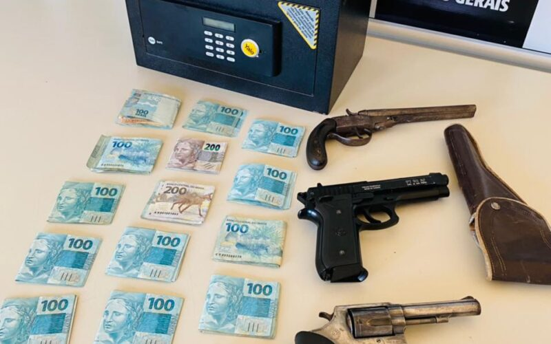 Polícia prende suspeito por posse ilegal de arma de fogo em Lagoa Santa - Foto: Divulgação/PCMG