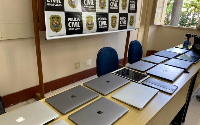 Polícia Civil prende dupla por receptação e recupera notebooks em BH - Foto: Divulgação/PCMG