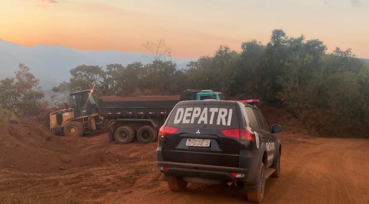 Polícia deflagra operação de combate à extração ilegal de minerais na Grande BH - Foto: Divulgação/PCMG