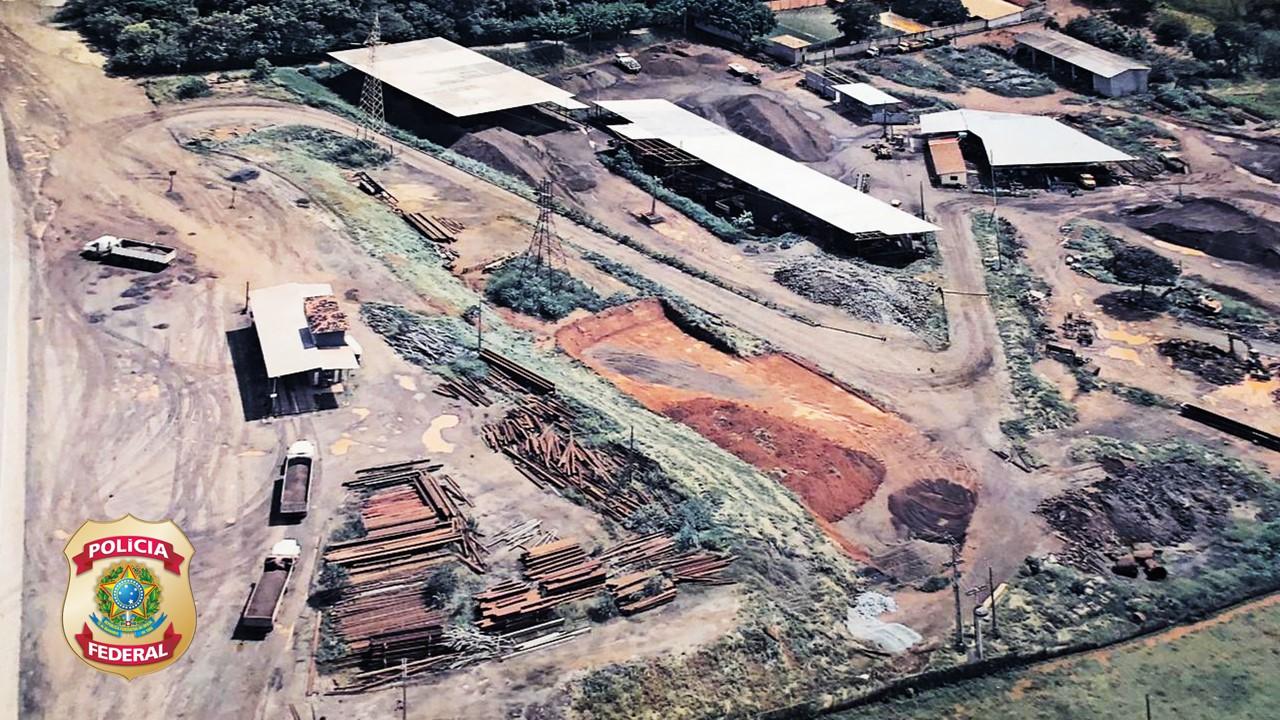 PF realiza operação de combater extração irregular de minério, em Nova Lima - Foto: Divulgação/PF