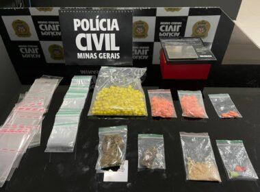 Polícia prende mulher com mais de 300 comprimidos de ecstasy em Paracatu - Foto: Divulgação/PCMG