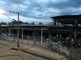 UPA nunca inaugurada é destruída por incêndio em Itabira - Foto: Divulgação/Corpo de Bombeiros