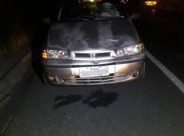 Homem morre ao ser atropelado por um carro na MGC-259, em Curvelo, na Região Central de Minas - Foto: Polícia Militar Rodoviária