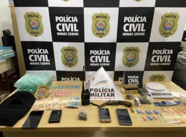 Polícia realiza operação de combate ao tráfico de drogas em Três Pontas - Foto: Divulgação/PCMG