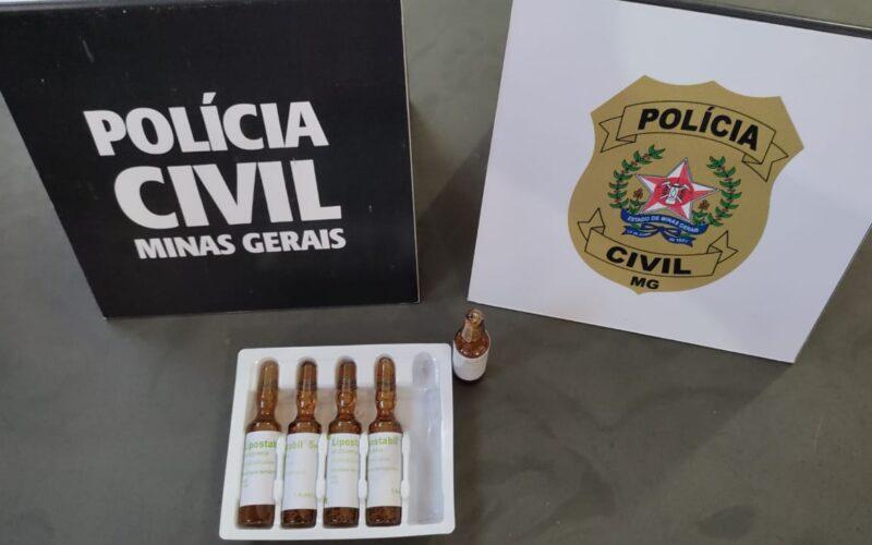 Responsável por clínica de estética é presa com medicamentos proibidos em Patos de Minas - Foto: Divulgação/PCMG