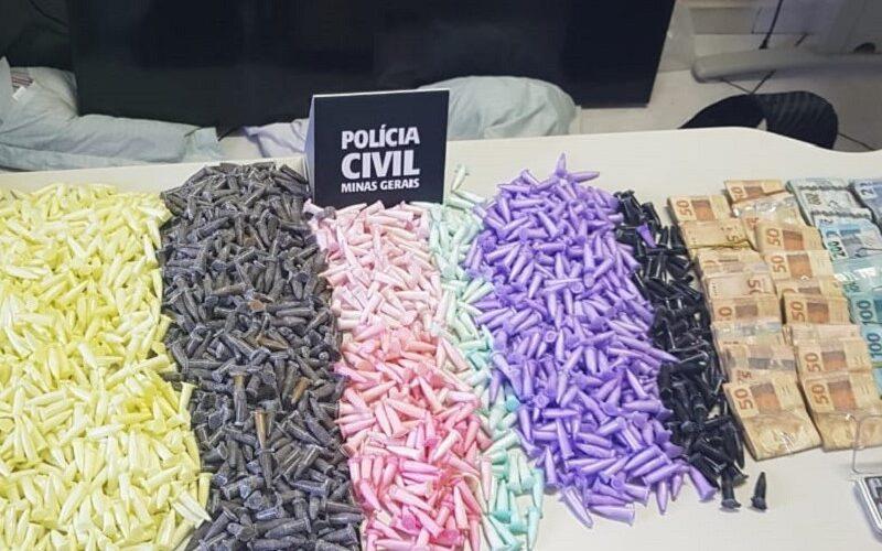 Polícia prende jovem com mais de 1700 pinos de cocaína em Sete Lagoas - Foto: Divulgação/PCMG