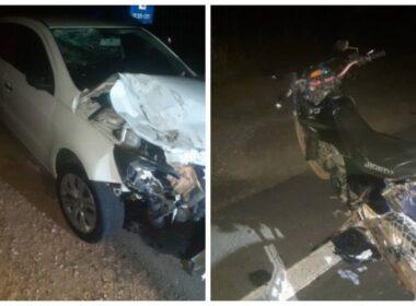 Motociclista morre em acidente com carro na LMG-754, em Curvelo - Foto: Polícia Militar/Divulgação