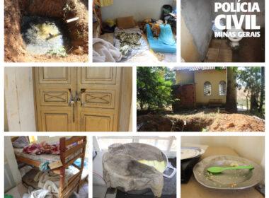 Quatro pessoas são presas durante ação em clínica de reabilitação em Patrocínio - Foto: Divulgação/PCMG