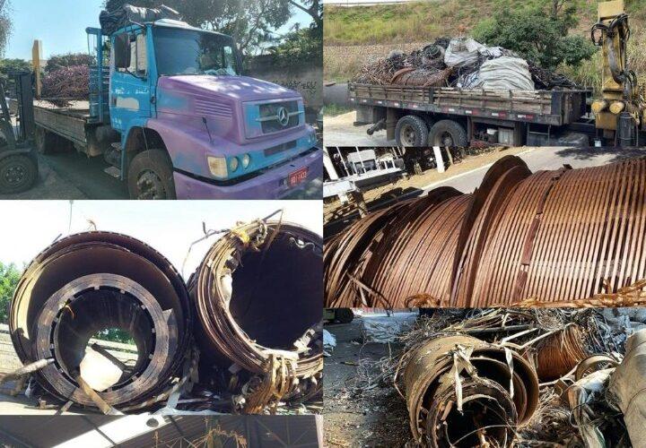 Polícia recupera carga de cobre avaliada em R$ 120 mil em Sarzedo - Foto: Divulgação/PCMG