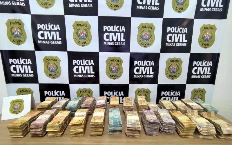 Polícia apreendeu mais de 1,2 tonelada de pasta base de cocaína em tráfico interestadual - Foto: Divulgação/PCMG